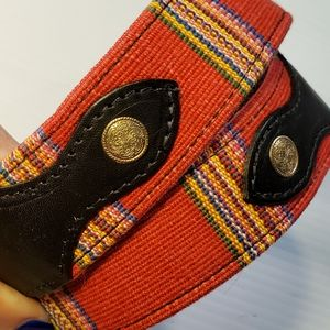 Men's Western Serape Leather Belt Size 30